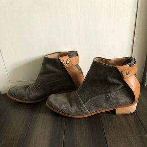 Joe's Jeans leather & suede ankle boots